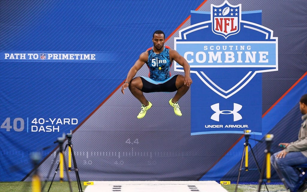 The 2014 NFL Combine is a true test of sports performance with lots on the line for all the NFL draft prospects. Cincinnati Bengals RB Gio Bernard shown here in 2013.