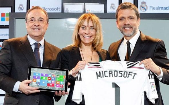 Real Madrid microsoft blog tech