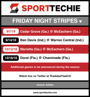 Friday Night Stripes schedule.