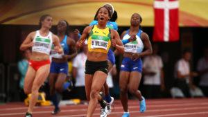 Briana Williams of Jamaica wins gold at the 2018 IAAF World U20 Championships.