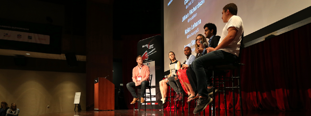 A panel at the 2018 Beyond Sport United Conference.