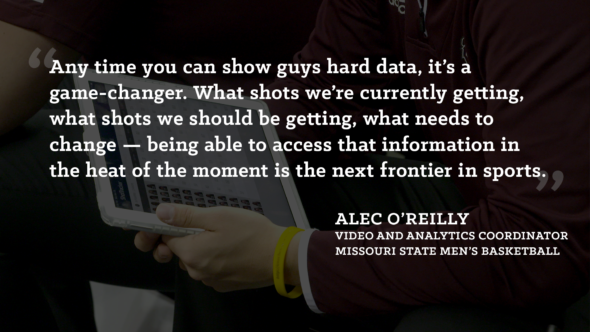 Missouri State men's basketball coach Alec O'Reilly on ShotTracker